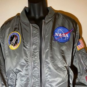 Alpha Industries NASA Bomber Jacket Gun Metal